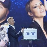 Jordi González, con el maletín de 'GH Dúo', en la final
