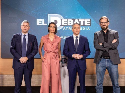Santiago González, Ana Pastor, Vicente Vallés y Cesar González, el equipo de 'El debate'