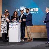 Representantes de los partidos políticos, en el sorteo del orden para 'El debate' de Atresmedia