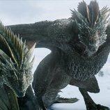 Rhaegal y Drogon en el 8x01 de 'Juego de Tronos'