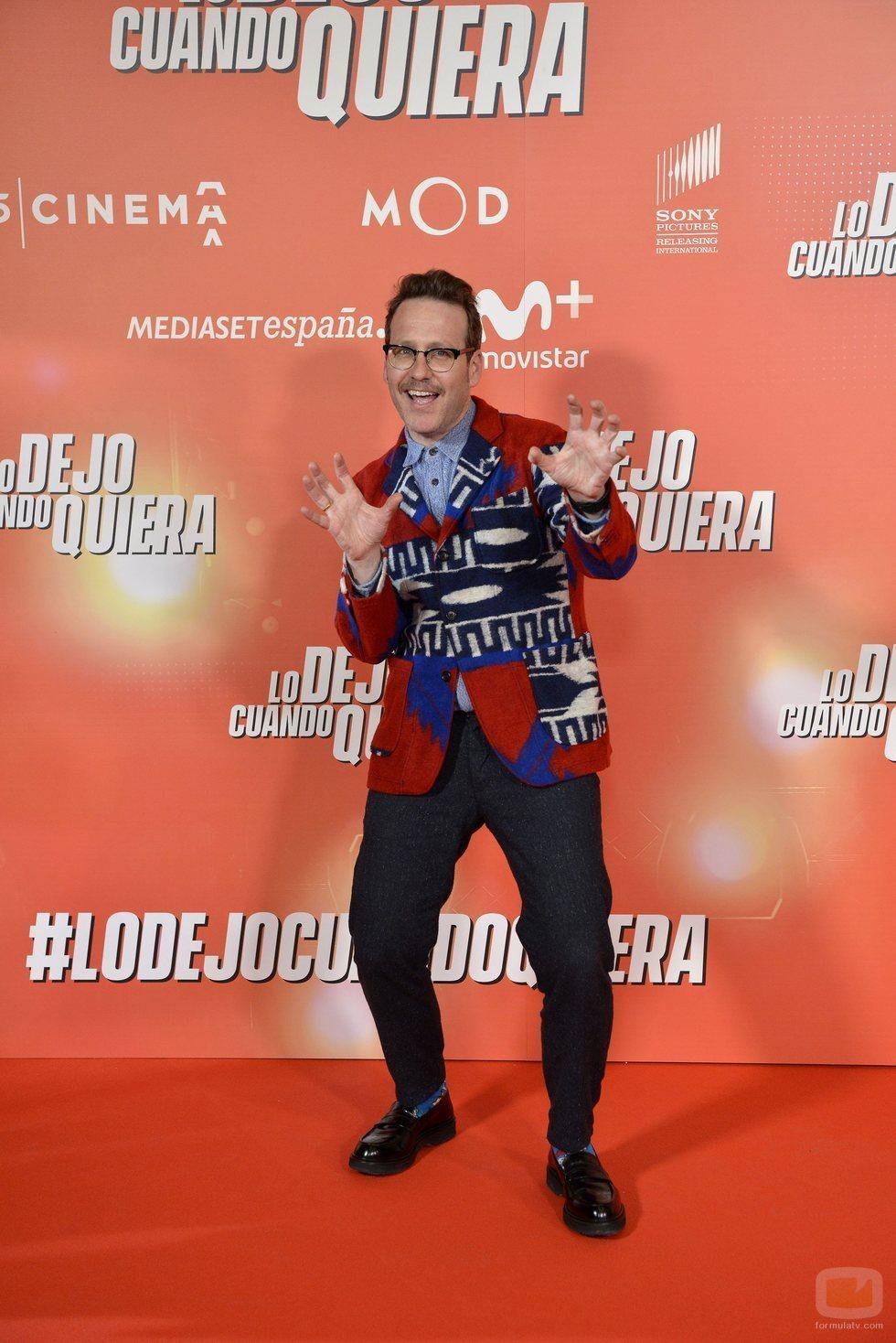 """Joaquín Reyes posa en la premiere de """"Lo dejo cuando quiera"""""""