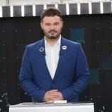 Gabriel Rufián (ERC), en el debate a seis de RTVE