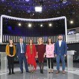 Los asistentes al debate a seis de RTVE de cara al 28A