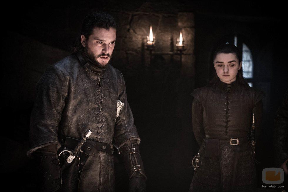 Jon Snow y Arya Stark, en el 8x02 de 'Juego de Tronos'