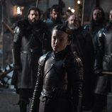 Lyanna Mormont vestida con su armadura en el 8x02 de 'Juego de Tronos'