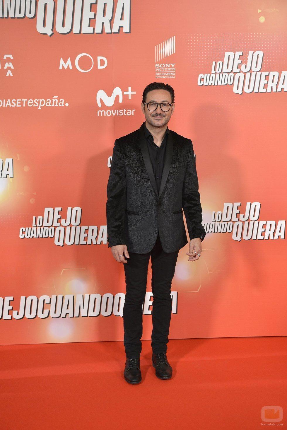 """Carlos Santos, en la premier de """"Lo dejo cuando quiera"""""""