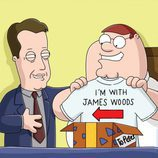 Peter Griffin con James Woods