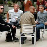 Dominic Purcell, Wentworth Miller, Amaury Nolasco y William Fitchner en 'Prison Break'