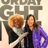 D'Noe y Marta Nebot en la premiere de 'Saturday Night Live'