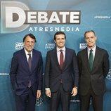 José Creuheras, Pablo Casado y Silvio González en 'El debate decisivo'