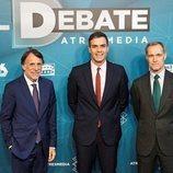 José Creuheras, Pedro Sánchez y Silvio González en 'El debate decisivo'