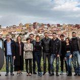 El equipo de 'La Unidad', la nueva serie de Movistar+, al completo