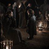 Tyrion y Sansa se refugian en las criptas de la batalla del 8x03 de 'Juego de Tronos'