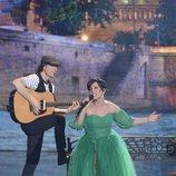 Mariela, finalista de 'Got Talent España', sobre el escenario de la gala final