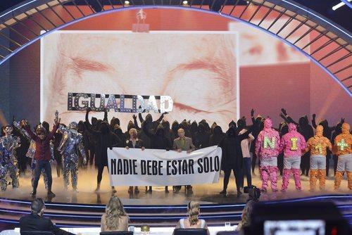 La Murga Zeta Zetas, ganadores de 'Got Talent España', frente al jurado