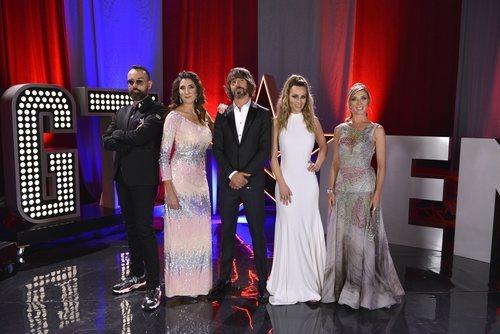 Santi Millán, presentador de 'Got Talent España', junto con los miembros del jurado