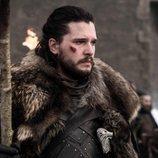 Jon Nieve en el funeral a los caídos en la Batalla de Invernalia en el 8x04 de 'Juego de Tronos'