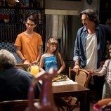 Pancho López junto a sus hijos en 'Mi marido tiene más familia'