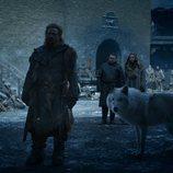 Tormund, Sam, Gilly y Fantasma en el 8x04 de 'Juego de tronos'