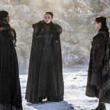 Los Stark reunidos tras la Batalla de Invernalia en el 8x04 de 'Juego de tronos'