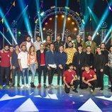 Miki Núñez se reúne con los artistas invitados al concierto 'Miki y amigos'