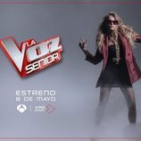Paulina Rubio en una imagen promocional de 'La Voz Senior'
