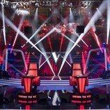 El escenario de 'La Voz Senior' desde los asientos de los coaches