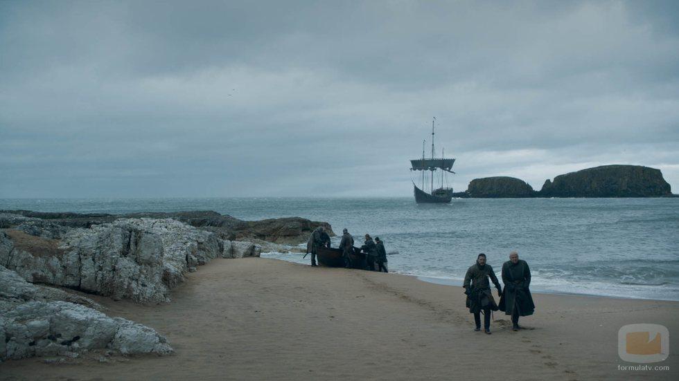 Jon Snow desembarca en el 8x05 de 'Juego de Tronos'