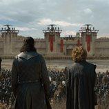 Ser Davos, Jon y Tyrion observan Desembarco del Rey en el 8x05 de 'Juego de Tronos'