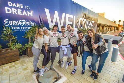 Miki Núñez llega junto a su equipo a Tel Aviv para participar en Eurovisión 2019