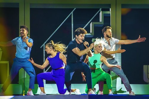Miki Núñez, en su primer ensayo para Eurovisión 2019