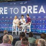 Primer encuentro de Miki Núñez con los medios internacionales del Festival de Eurovisión 2019