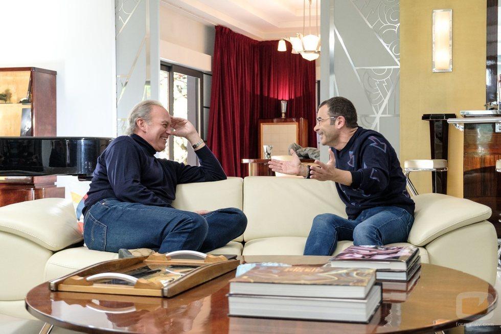 Jorge Javier Vázquez junto a Bertín Osborne, en 'Mi casa es la tuya'
