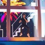 El cantante Miki Núñez en el segundo ensayo del festival de Eurovisión 2019