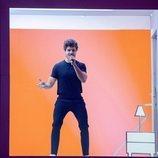 """Miki Núñez cantando """"La Venda"""" en el segundo ensayo del festival de Eurovisión 2019"""