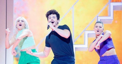 Miki Núñez en el segundo ensayo del Festival de Eurovisión 2019