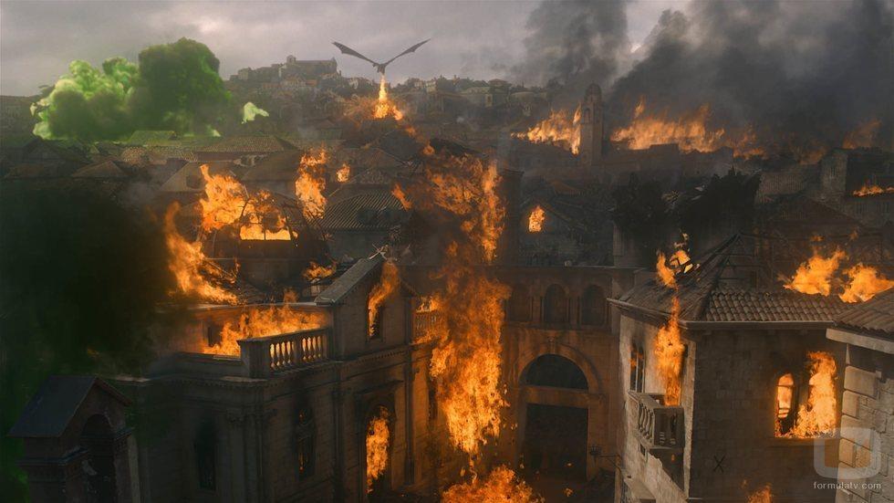 Desembarco del Rey, devastada por Drogon en el 8x05 de 'Juego de Tronos'