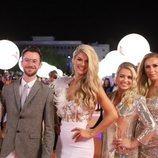 Sarah McTernan y su equipo, en la alfombra naranja de Eurovisión 2019