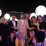 Kobi Marimi y su equipo, en la alfombra naranja de Eurovisión 2019