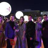 El grupo D-Moll, en la alfombra naranja de Eurovisión 2019