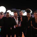 Ghingiz y su equipo, en la alfombra naranja de Eurovisión 2019