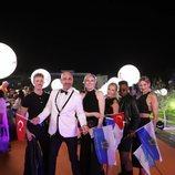 Serhat y su equipo, en la alfombra naranja de Eurovisión 2019