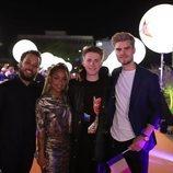 Eliot y su equipo, en la alfombra naranja de Eurovisión 2019