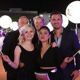 S!sters y su equipo, en la alfombra naranja de Eurovisión 2019