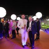 Jurij Veklenko y su equipo, en la alfombra naranja de Eurovisión 2019