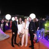 Srbuk y su equipo, en la alfombra naranja de Eurovisión 2019