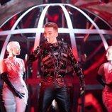Hatari, representantes de Islandia, en la Semifinal 1 de Eurovisión 2019