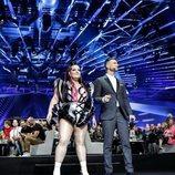 Netta y Assi Azar, en la Semifinal 1 de Eurovision 2019