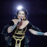 Jonida Maliqi, representante de Albania, en la Semifinal 2 de Eurovisión 2019