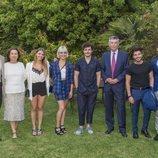 Miki Núñez y la delegación española, en la residencia del embajador de España en Israel